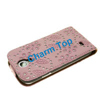 2013 wholesale Leather Flip Case For Samsung s4