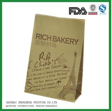 biodegradable manufacturer food grade brown paper bag for burgers, fries, corn / hotdogs and crepes