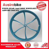 700c Magnesium Alloy Wheels for Fixed Gear Bike