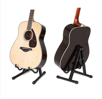 Acoustic Electric Guitar Metal Stand Folding Guitar Music Stand