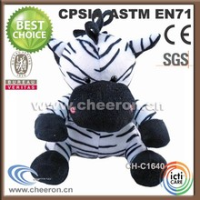 Nice and amusing shape toy zebra stuffed