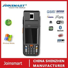 Chinese factory mobile pda cell phone with thermal printer , fingerprint reader