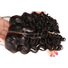 7A Cheap Curly Lace Closure Bleached Knots Brazilian Virgin Deep Curly Human Hair Closure Free Middle 3 Part,Lace Front Closure