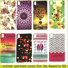 HOT!!! various colour pattern cover Case For bq Aquaris E5 ,pattern painted leather case for bq Aquaris E5