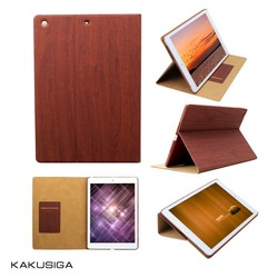 Kaku wood pattern smart cover case for ipad mini 2 case with top quality printing