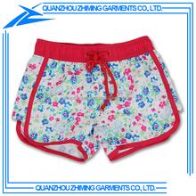 100% Polyester Kids Swim Shorts for Girls with Custom Printing