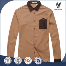 2016 oxford new model 100% men's cotton casual shirt from Chinese factory