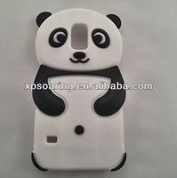 3D Panda Silicone cover for Samsung i9600, Panda case for Galaxy S5