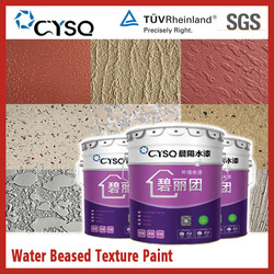 Water based effect decorative coatings