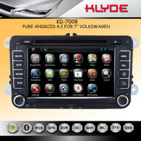 """KLYDE 7"""" Android 4.2.2 for vw golf 6 car dvd system gps navigat with Mirror Link Capacitive Touch Screen Multipoint support OBD2"""