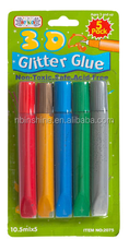 3D glitter glue pen , glitter glue in tube