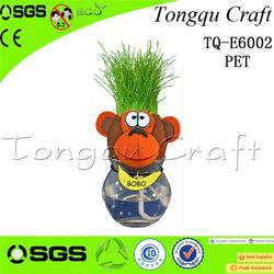 Office Decoration kid ride on panda toy grass head doll rc toy monster truck , cat feather toy