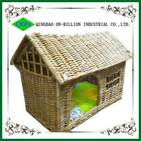 Wicker material small animals useage cheap dog house