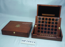 2015Luxary High Class Wooden Collection Coin case