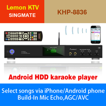 Android Lemon KTV player with HDMI 1080P ,Support MKV/VOB/DAT/AVI/MPG songs ,Over 3TB up to 16TB HDD ,Insert COIN