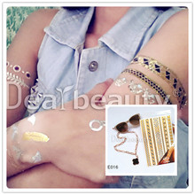 Lovely gold and silver foil temporary tattoos
