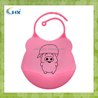 Wholesale private label silicone baby bibs with attactive printing