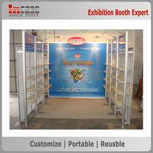 Portable trade show booth exhibition display shelf