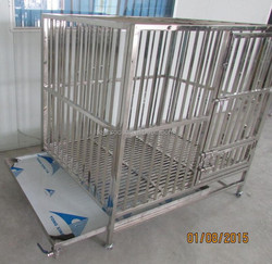 stainless steel pipe dog cage ss1010