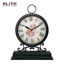 Quartz wrought iron table clock