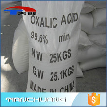 Waste water treatment cleaning powder tech grade oxalic acid anhydrous 99.6%min