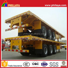 Low price flatbed semi trailer for sale made in china 2015