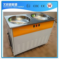Flat 2 pan fried ice cream machine for business