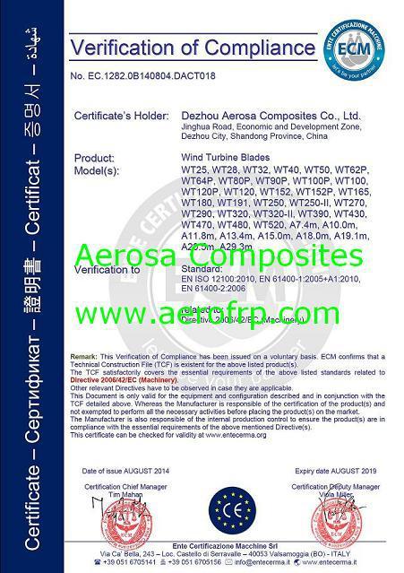 Aerosa Blades CE certification.JPG