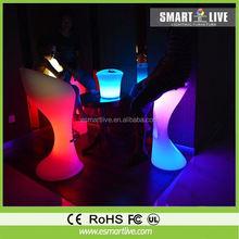 remote control LED singing box stool LED plastic bar stool