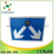 in alluminio solare traffico segnale di avvertimento segnale stradale direzione