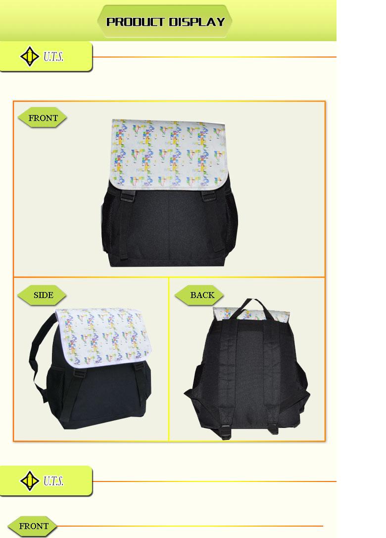 plain pattern backpack hiking
