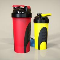 BPA free plastic protein blender shaker cup,matel ball protein shaker bottle