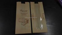 brown kraft paper bags with pp windown for food packaging
