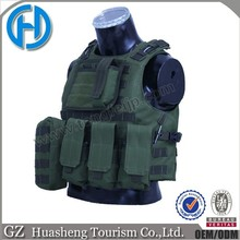 Tactical hunting army combat quick release vest black