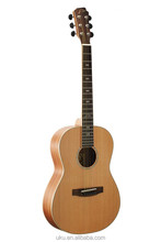 """China wholesale 36"""" solid cedar body acoustic travel guitar western guitar"""