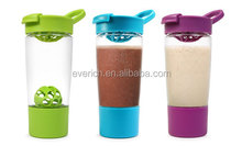 24oz colorful bpa free tritan shaker bottle with storage container