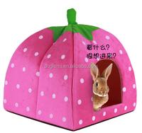 2015 Hot Selling Cat Dog Puppy Pet Warm Strawberry Bed House Tent For Winter POLAR RABBIT PYRAMID HUT KENNEL S Sizes