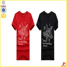 red and black printed mens t shirt