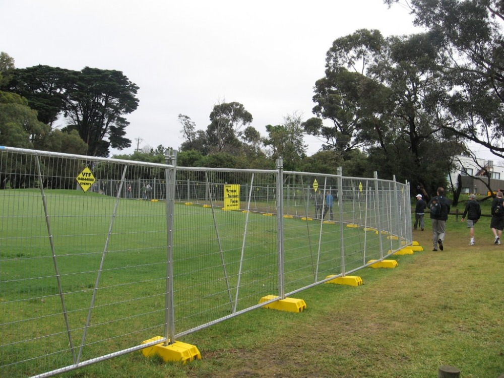 Removable galvanized safety security temporary fencing