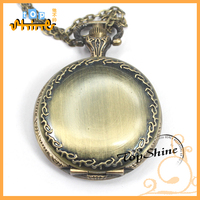 2014 Existing In Stock China Alibaba Wholesale Back Smooth Face Quartz Antique Bronze 3.5cm Mini Steampuck Pocket Watches