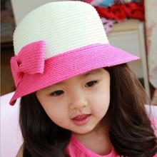 Tat22008wholesale kids hat straw holida beach children kids hat
