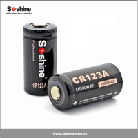 Soshine CR123A 3.0V Primary Lithium Battery, cheap 16340 c