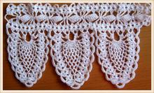 Crochet Lace Trim, crochet edging, Lace Crochet Curtain Trim