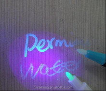 Fancy invisible ink mini magic uv led pen with uv torch on top CH-0816S