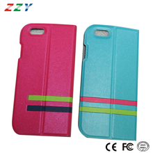 Mobile Phone accessories professional manufacture bookcase style flip leather case for iphone 6