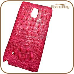 Guangzhou Manufacturer Wholesale logo custom genuine crocodile phone case for iphone