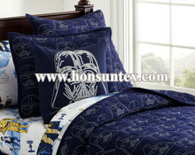 Wholesale high quality blue boy embroidery kid quilt/bed/children bedspread