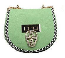 Hot sale good quality light green leather handbags fashion women's stylish bag dropship paypal