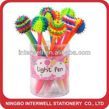 2013 new style! Spiky Pen,Porcupine pen with light,light pen