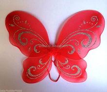 Wholesale halloween carnival fairy wings girls baby fabric big angel wings WG4014